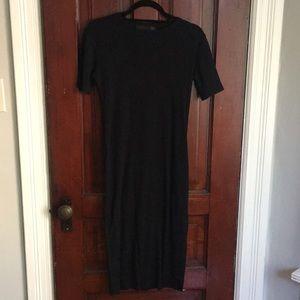 Crew neck T-shirt midi dress
